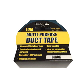 WORKSHOPPLUS Multi Purpose Duct Tape - Black 10M