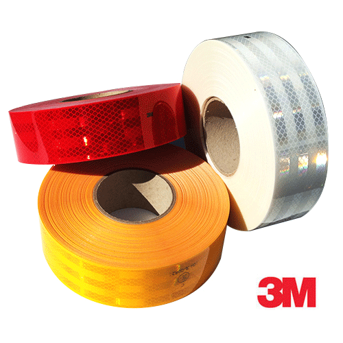 3M Amber Conspicuity Tape 125M Roll
