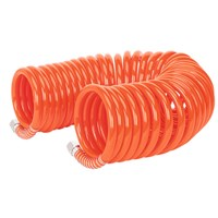 "Sealey PU 8mm Coiled Air Hose 10M with 1/4"" BSP Unions"