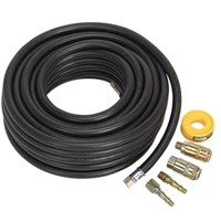 "Sealey Air Hose Kit 15M x 8mm with 1/4"" BSP Unions & adaptors by Workshop Plus"