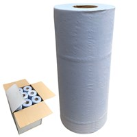 "2 ply 10"" Blue Hygience Couch Paper Rolls 50m x 25cm - Pack of 18 by Workshop Plus"