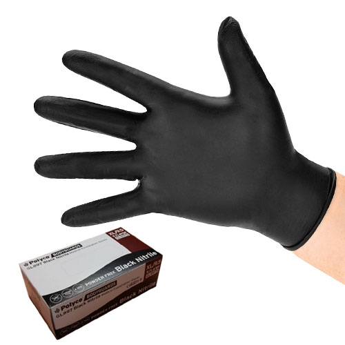 Bodyguard Black Nitrile Gloves Large (8973) - Box of 100 by Workshop Plus