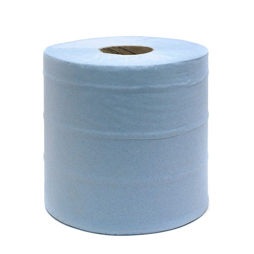 Large Blue Paper Roll 2 ply 400M x 28cm Pack of 2 by Workshop Plus