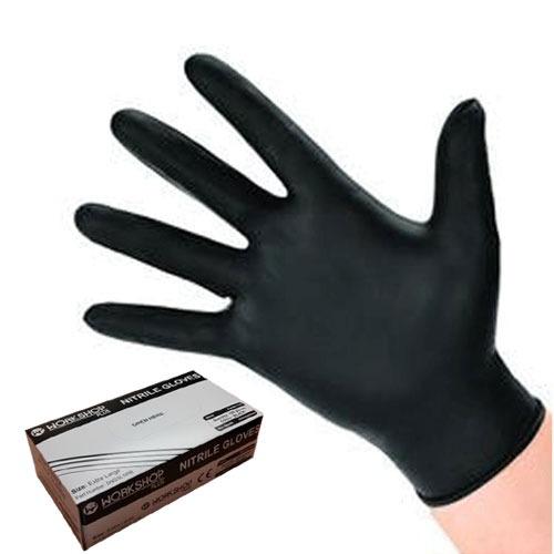Black Nitrile Gloves Medium - 100  by Workshop Plus