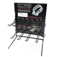 WORKSHOPPLUS Hose Clip Display Stand With 100 Assorted Clips