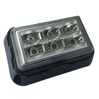 LED 9-36V Amber flashing warning strobe light by Workshop Plus