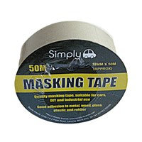 WORKSHOPPLUS Masking Tape 18mm x 50M 6 Pack