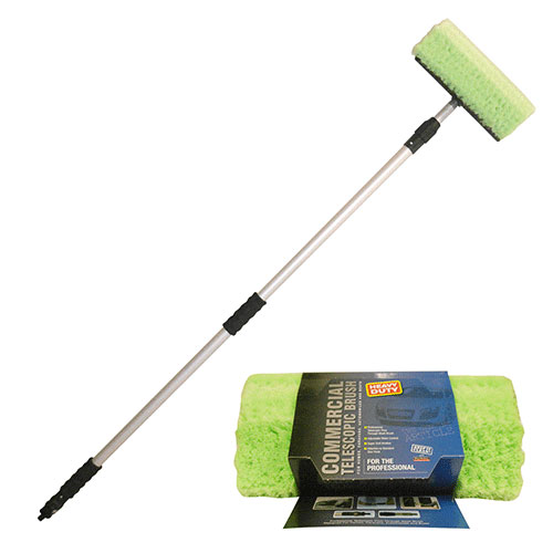 Heavyduty Van/Truck Telescopic Wash Brush 3M by Workshop Plus