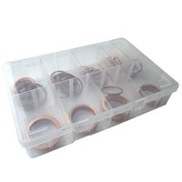 WORKSHOPPLUS Large Copper Washers 18-35mm Assorted 90 Pieces