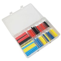 Heat Shrink Tubing Dia 3.2, 4.8, 6 & 12.7mm 160 Pieces by Workshop Plus