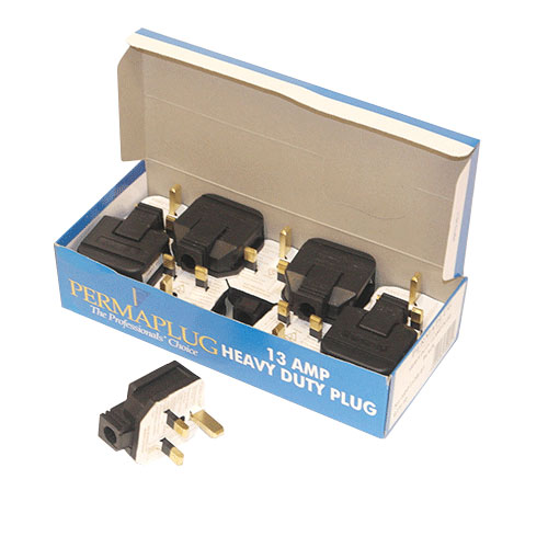 Heavy Duty Plug Black 13 Amp - 10 Pack by Workshop Plus