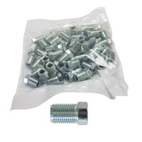 WORKSHOPPLUS Brake Nuts Male 10mm Full Thread - 50 Pieces