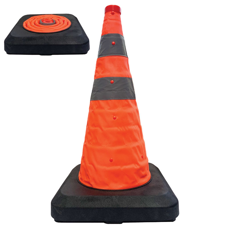 Collapsible Road Cone 70cm by Workshop Plus