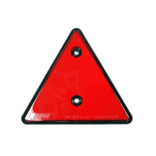 Red Triangle Reflector 150mm with Black Border by Workshop Plus