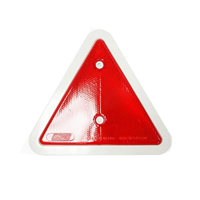 WORKSHOPPLUS Red Triangle Reflector 140mm with White Border