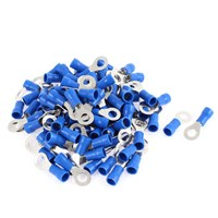 Pre-Insulated Ring Terminals 3.7mm Blue - 100 Pieces by Workshop Plus