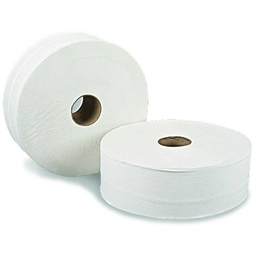 WORKSHOPPLUS 2 Ply Mini Jumbo Toilet Rolls - 12 Pieces